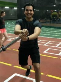 Daramjeet Brar working out